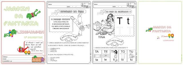 Caderno Linguagem 2º Semestre/ Jardim da Fantasia