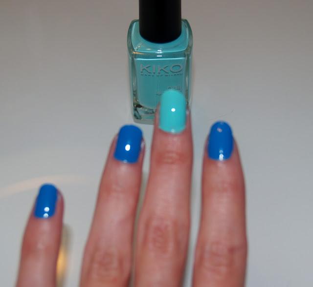 kiko nails soft blue uñas esmaltes