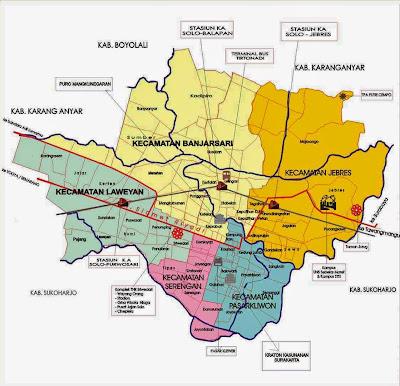 Peta Wilayah Kota Surakarta