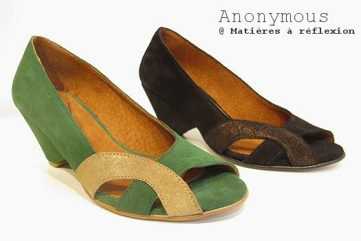 Anonymous chaussures ouvertes escarpins noir elena bronze graphique