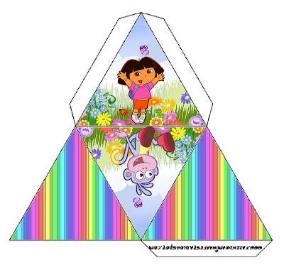 Cajita pirámide para imprimir gratis de Dora la Exploradora