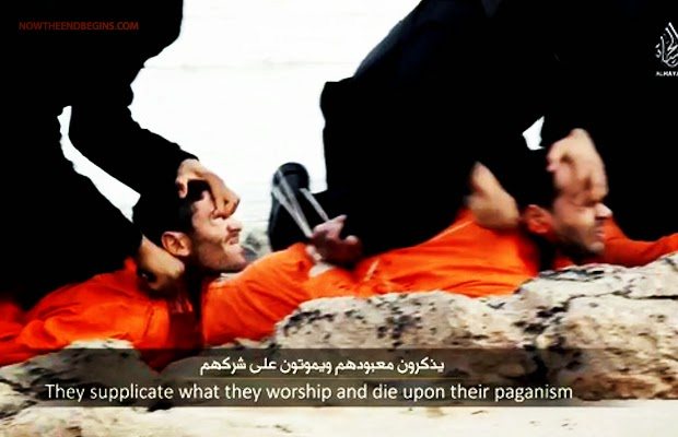 21 coptic christians lined up and beheaded in libya