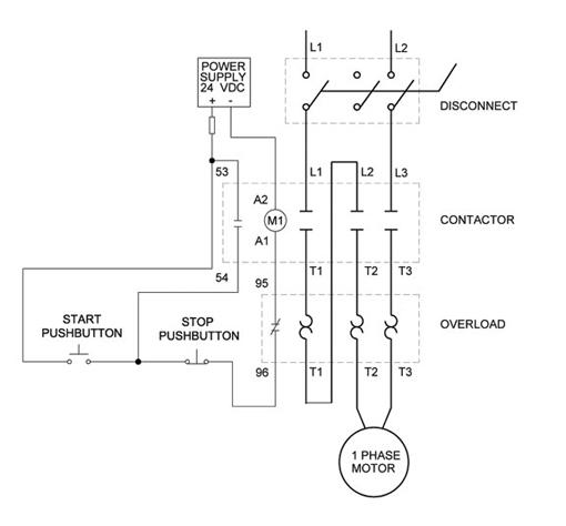 Star Delta Motor Starter Wiring Diagram
