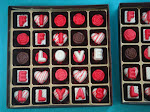 25 pcs Chocolate in box with deco
