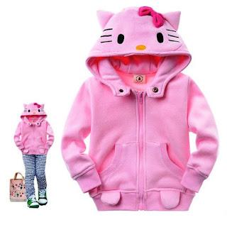 Gambar Jaket Hello Kitty Anak Perempuan Warna Pink