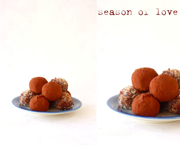 how to make chocolate truffles with cocoa powder?