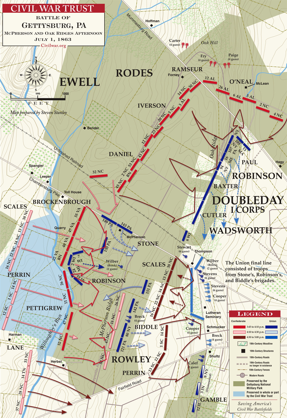 battle map courtesy of the civil war trust