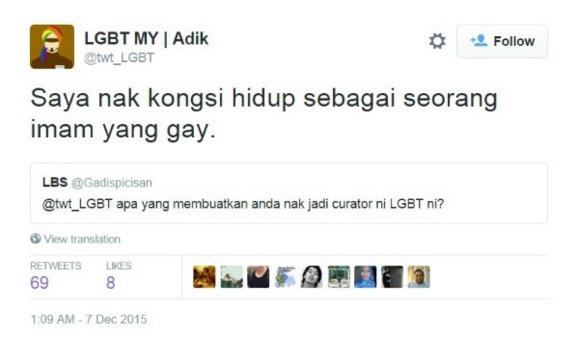 """""""Imam gay"""" muncul di Twitter"""