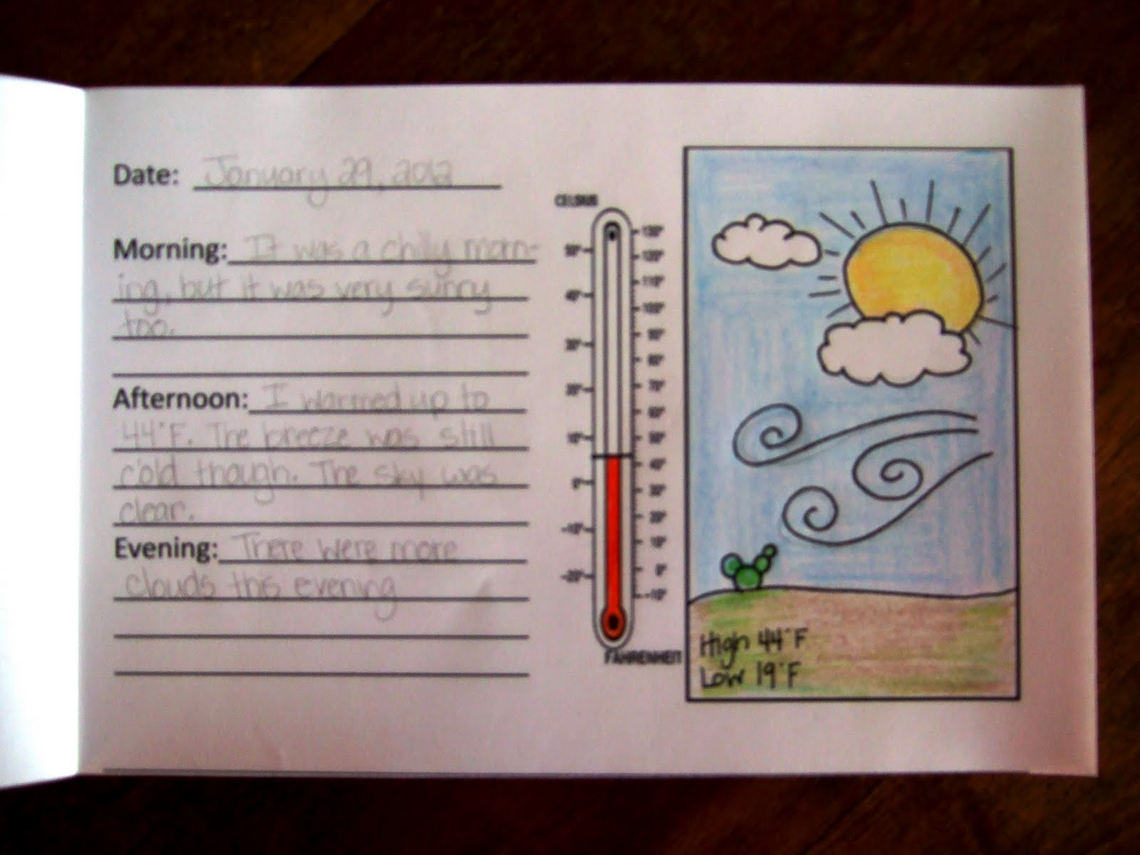 Classroom Journal Ideas ~ The inspired classroom weather journal