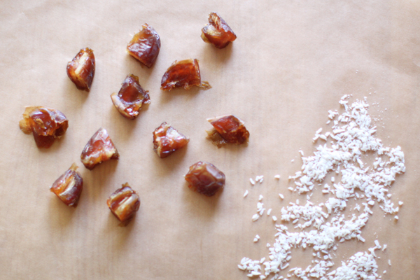 Chopped Medjool dates & shredded coconut