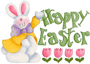 J Happy Easter, everybody! Here the sun is shining and flowers blooming… happy easter bunny