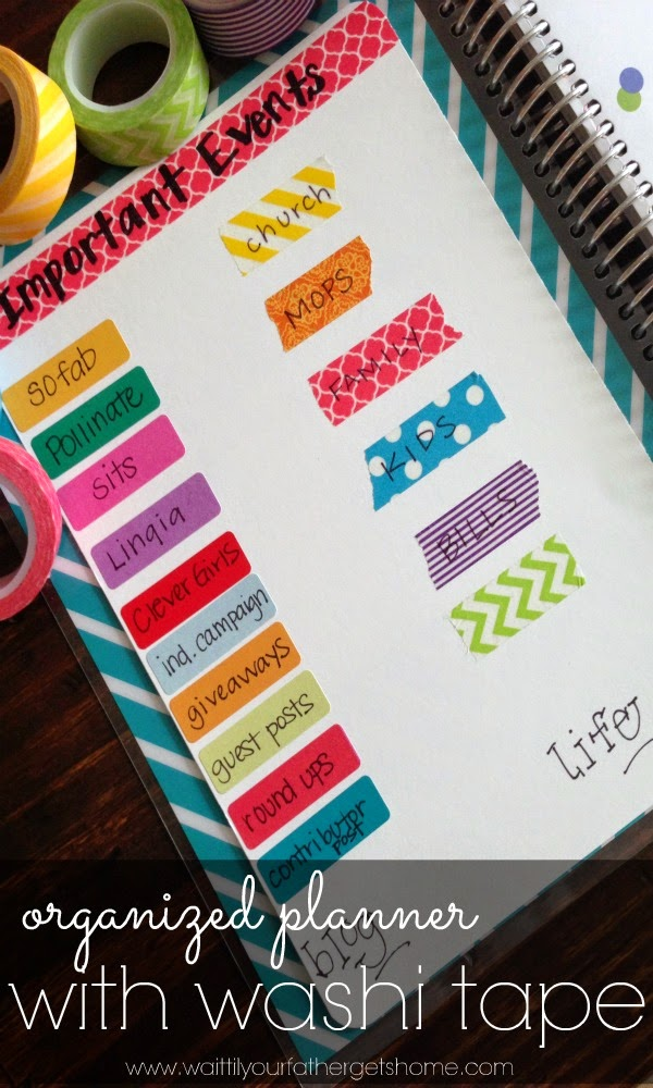 Organize Important Events -- 11 Ways to Organize with Washi Tape :: OrganizingMadeFun.com