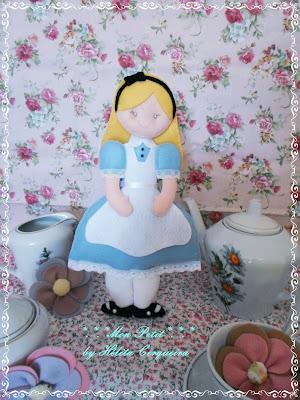 decoração aniversário-em feltro-Alice no país das Maravilhas-Alice in Wonderland-felt-Alice
