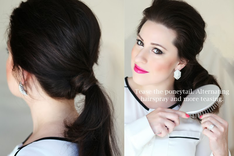 king-and-kind-party-carrie-bradshaw-ponytail-hair-tutorial-new-years-eve-hair-ideas-san-diego-beauty-blogger-brunette