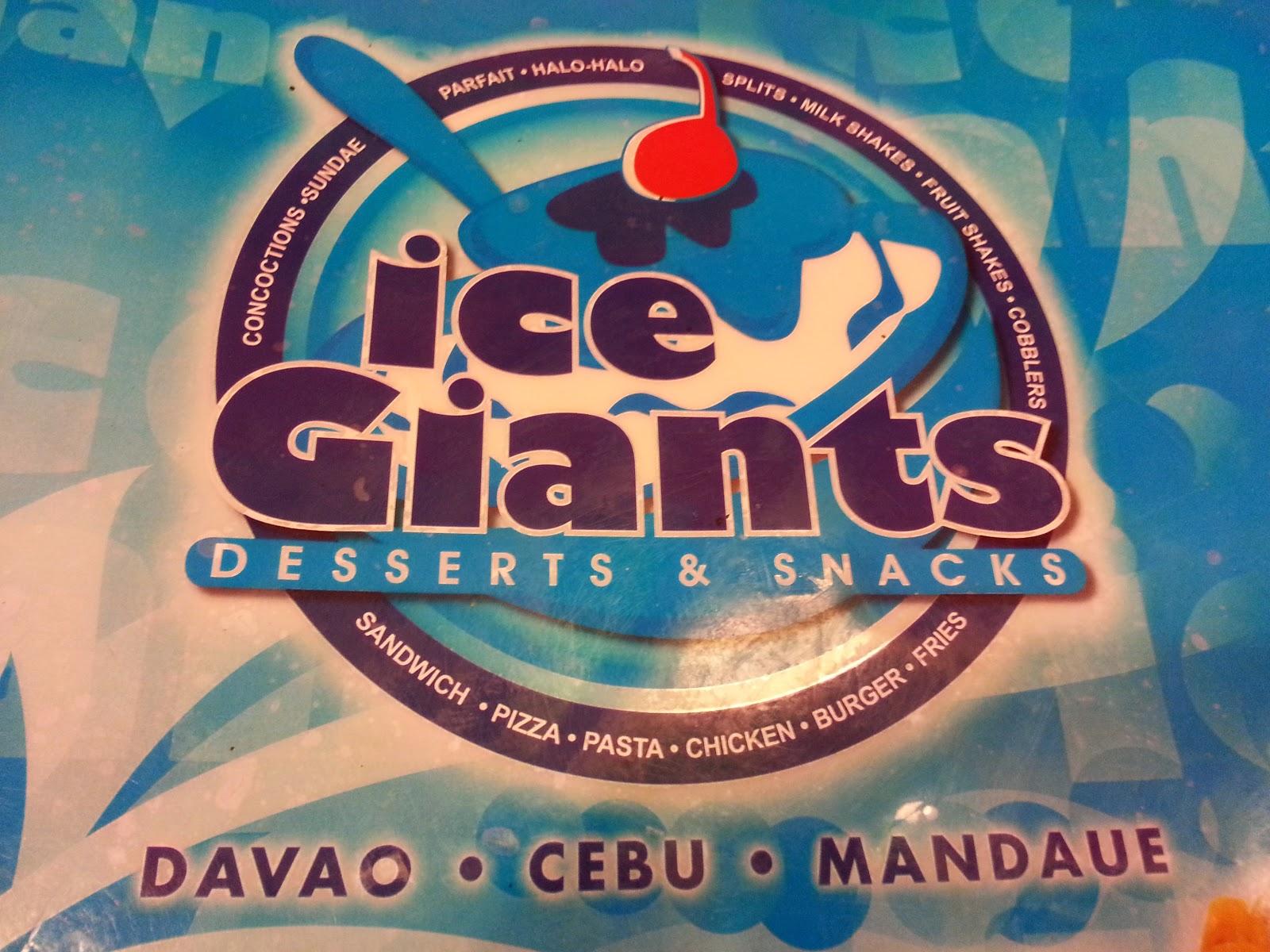 ice giants cebu menu - photo #47