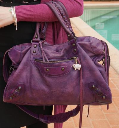 Balenciaga sapphire purple classic city bag