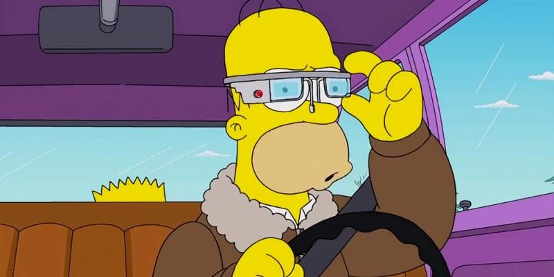 Los Simpson Se Burlan De Los Google Glass