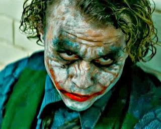 Heath Ledger as The Joker, in Christopher Nolan's The Dark Knight