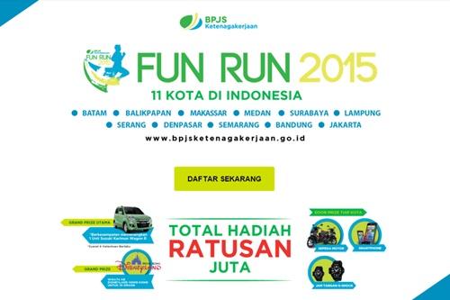 BPJS Ketenagakerjaan Fun Run 2015, 11 Kota di Indonesia