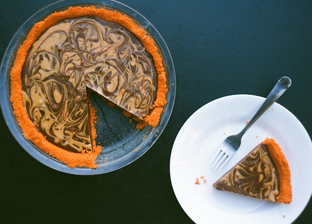 Chocolate Peanut Butter Pie with Nabs Crust