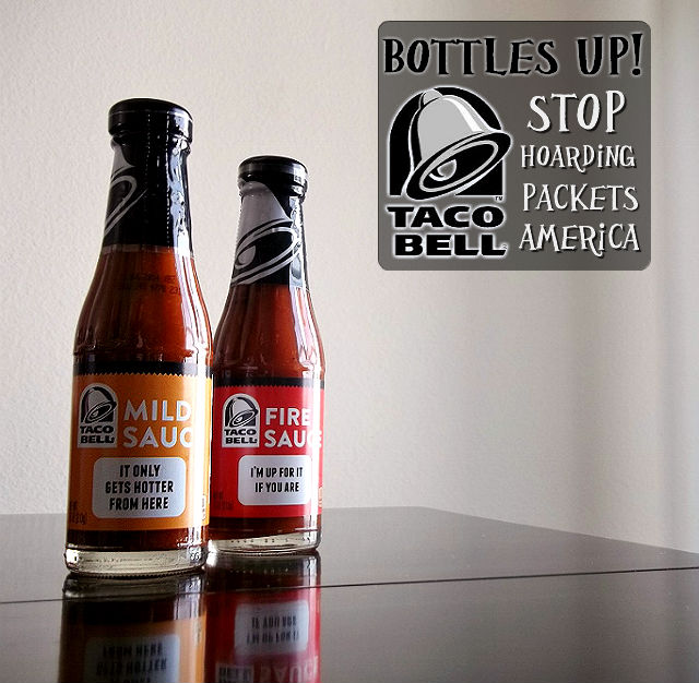 Taco Bell bottled sauces