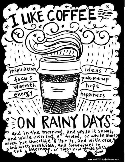 Coffee And Rain Quotes Quotesgram