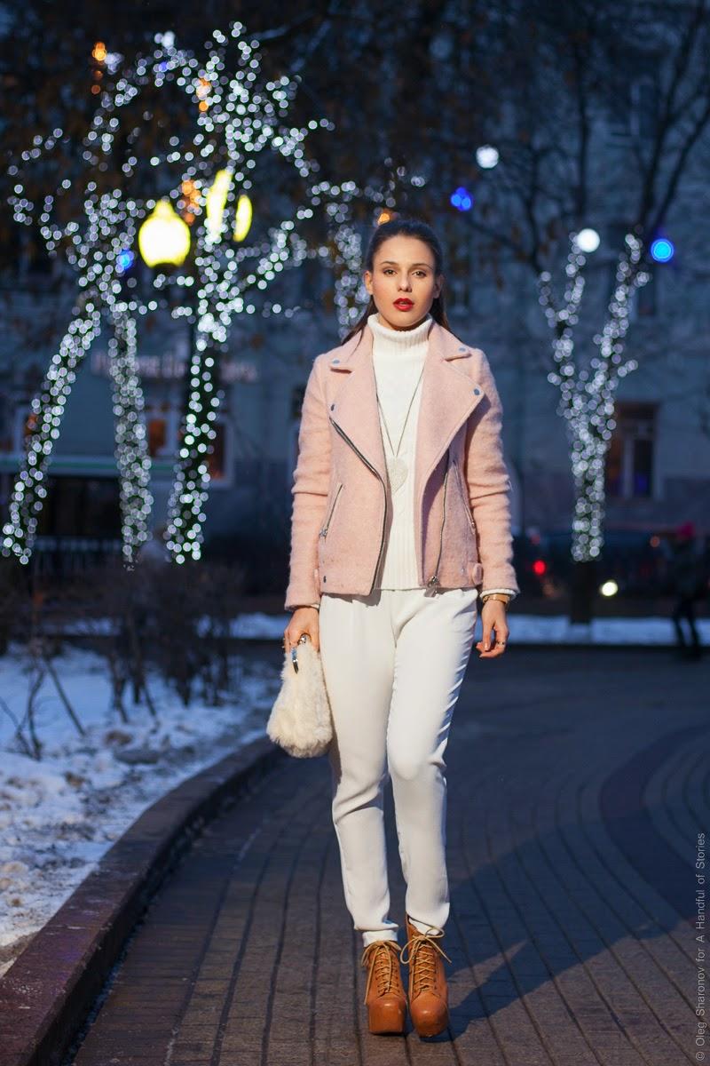 winter 2014 street style faux fur