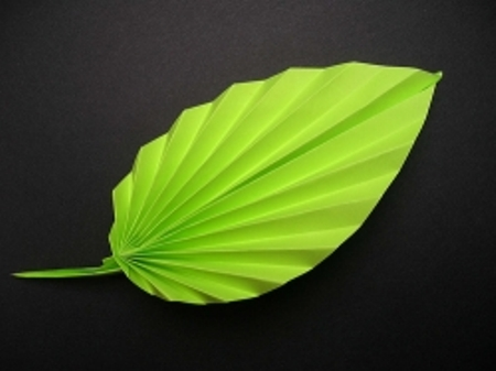 Origami paper leaf 3d origami instructions art and craft origami paper leaf 3d mightylinksfo