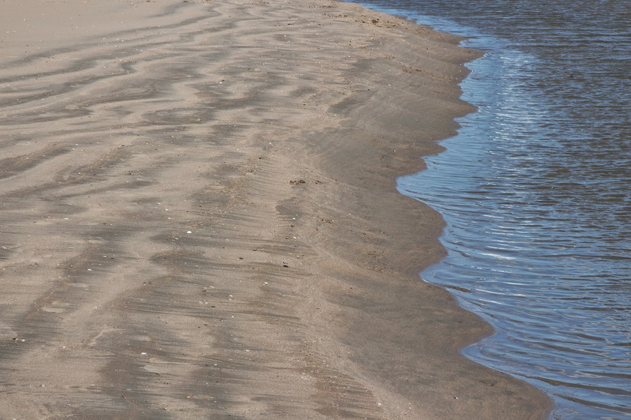 curved sand and water