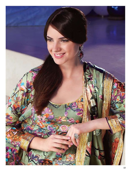 Gul Ahmed Aster Cotton Silk Lawn Collection 2012