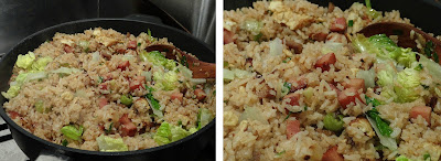 non-stick saute pan, Gastrolux non-stick pan, Chinese Fried Rice