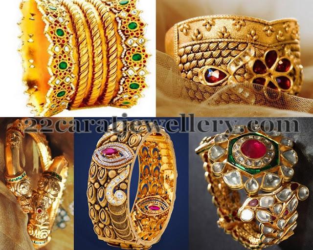 Splendid Broad Gold Bangles