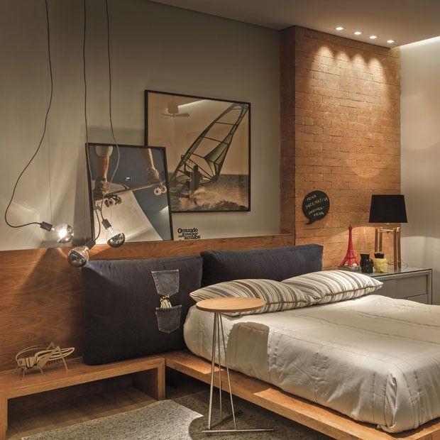 15 quartos com tijolos vista tijolos aparentes for Recamaras minimalistas 2015