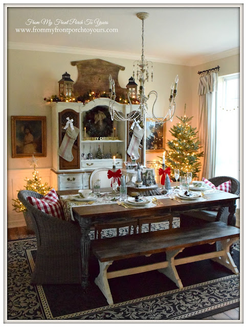 Farmhouse Christmas Dining Room-French Farmhouse-Cottage Style- From My Front Porch To Yours