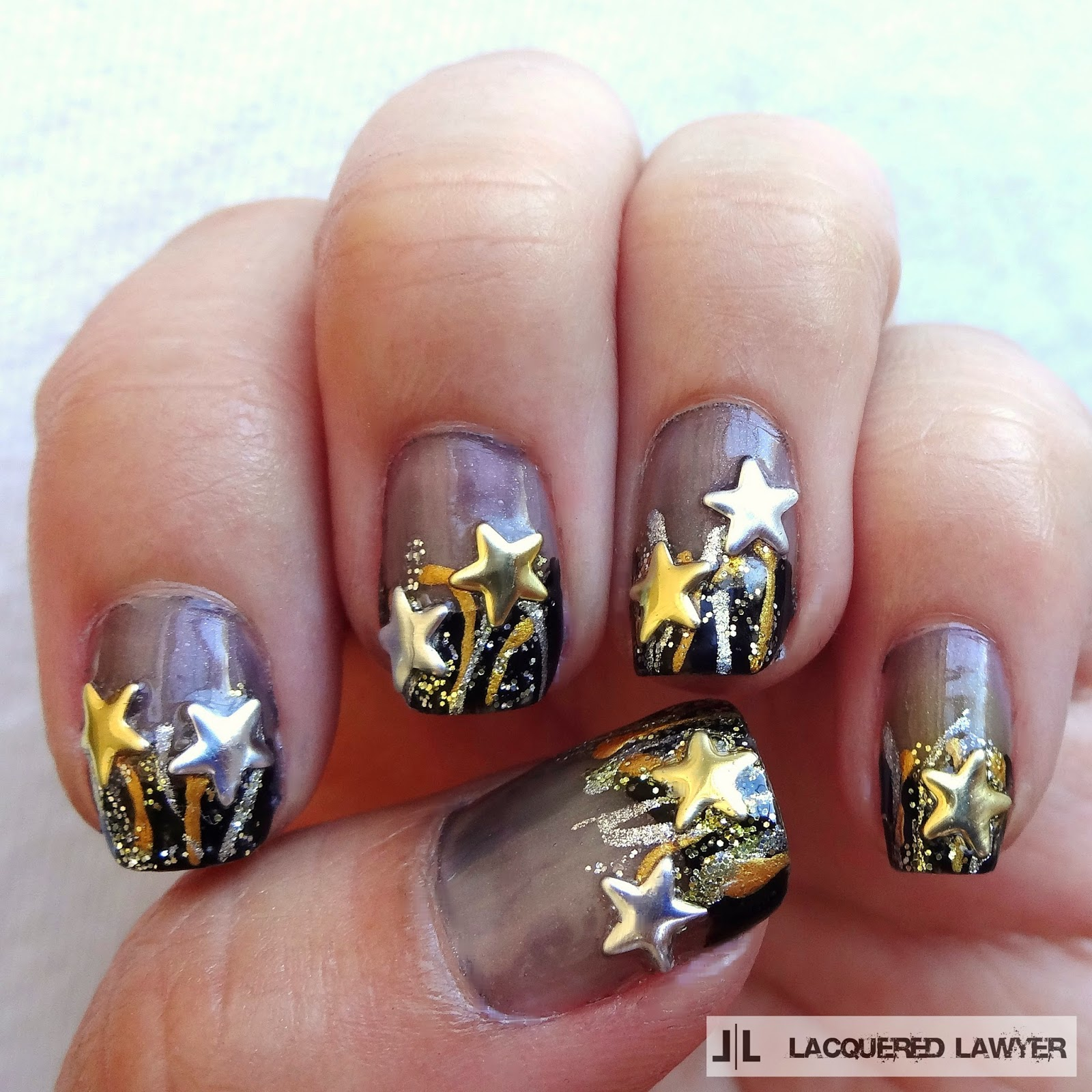 Lacquered Lawyer | Nail Art Blog: Starry Celebration