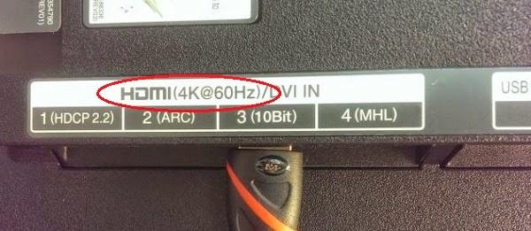 Cara memastikan TV UHD memiliki port HDMI 2