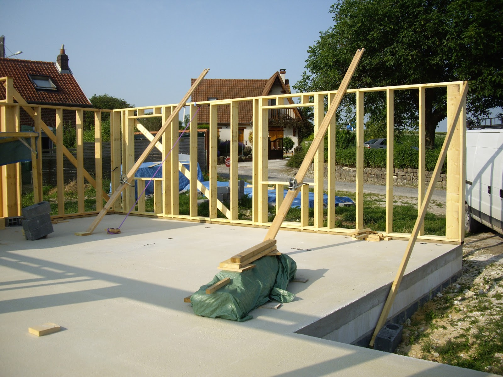 construction passive  Maison ossature bois (MOB) Ossature bois