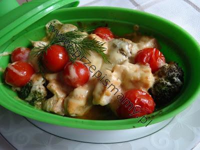 Zapiekanka z kurczaka i brokuła