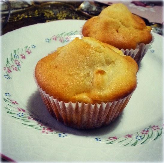 muffins con mele e yogurt alla banana