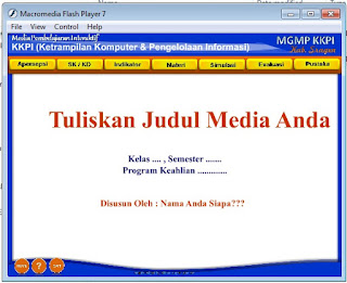 ... Template Media Pembelajaran Interaktif menggunakan Macromedia Flash