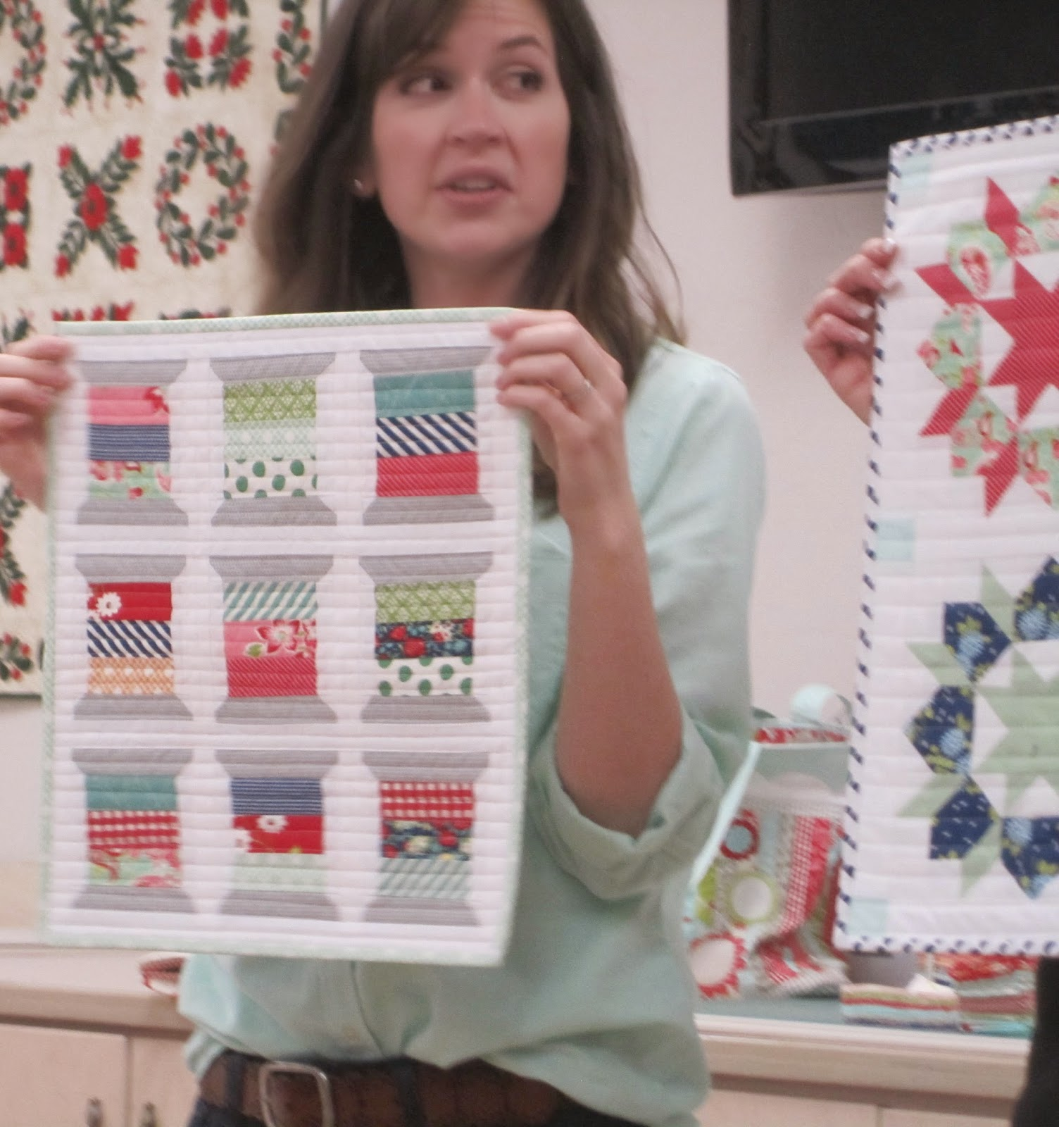 camille roskelley's mini spool quilt