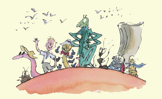 characters from the James and the Giant Peach book