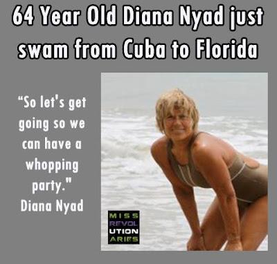 Diana Nyad, sports, swimming, Cuba, Florida, shark, ocean