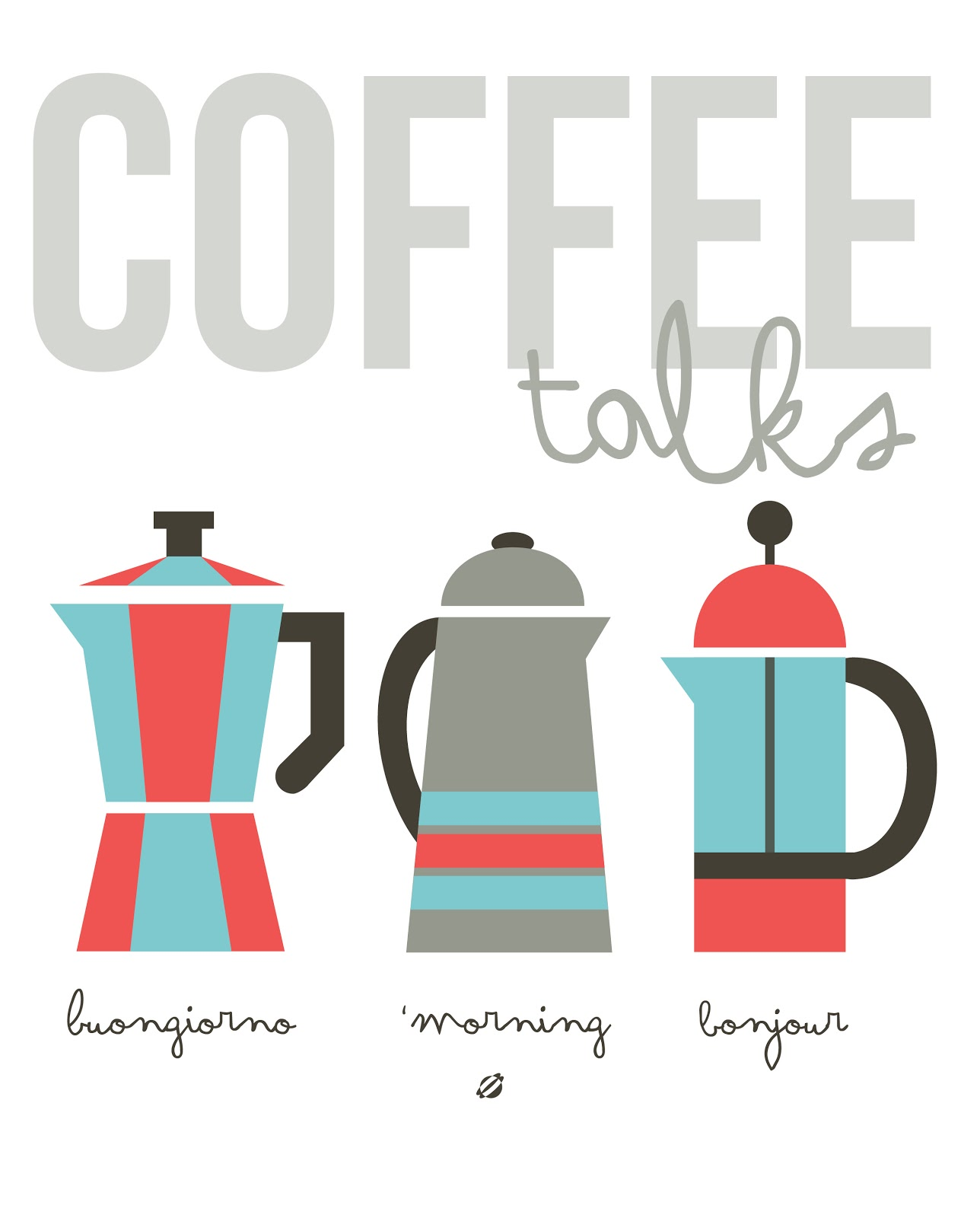 LostBumblebee ©2014 Coffee Talks Free Printable Personal Use Only