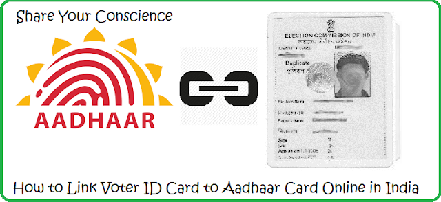 Link Voter ID Card to Aadhaar Card Online in India