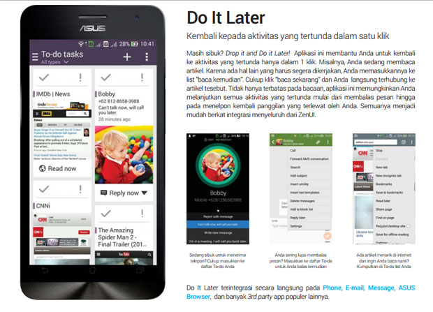 ASUS ZenFone Smartphone Android Terbaik Do it Later