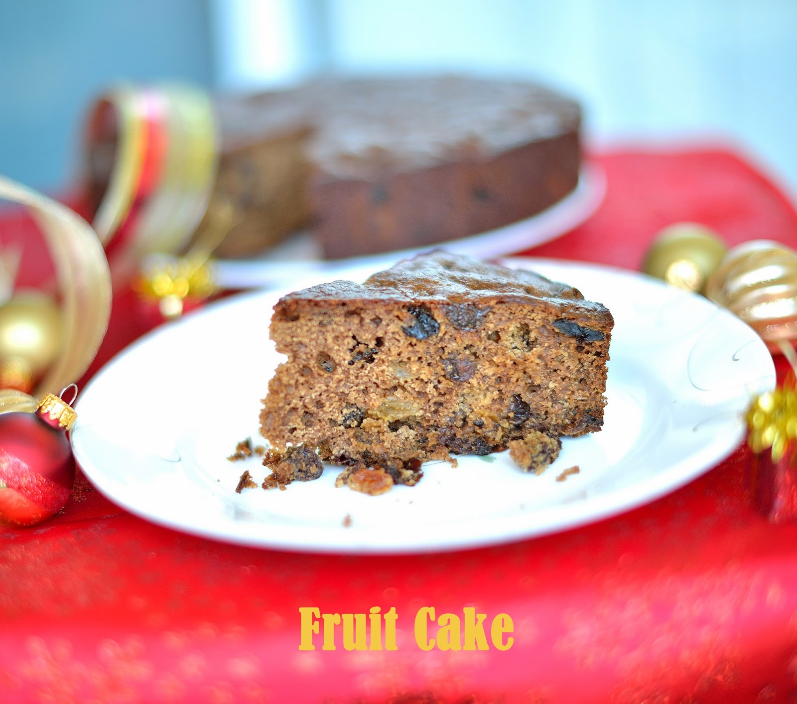 From My Home Kitchen Easy Fruit Cake No Alcohol No Soak