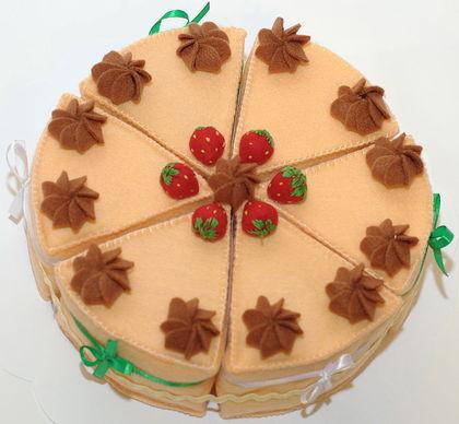 Поделки из фетра торт