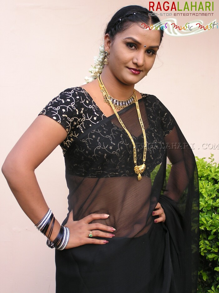 Welcome To Tollyfanz Apoorva Aunty In Black Saree