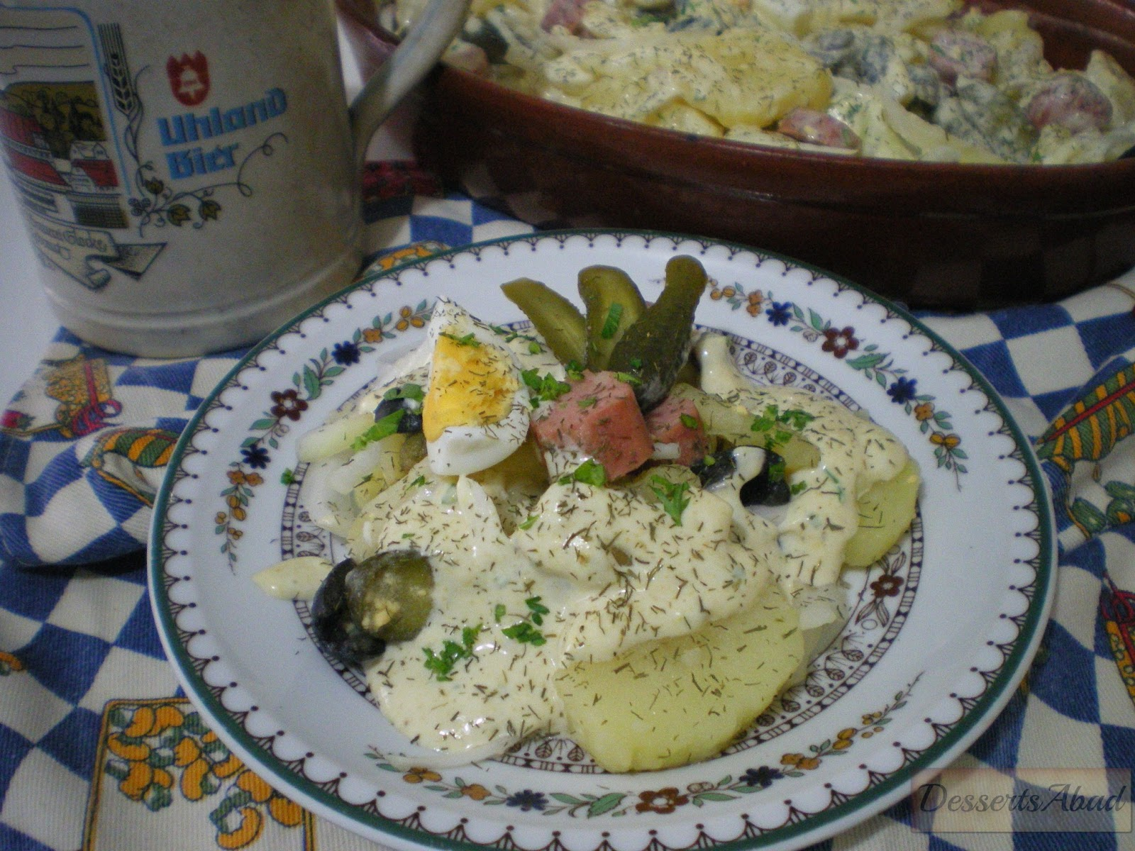 Dessertsabad kartoffelsalat ensalada de patatas - Ensalada alemana de patatas ...